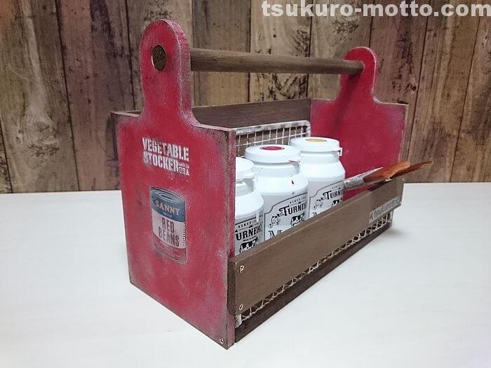 100均焼き網とカッティングボードのハンディボックス完成3