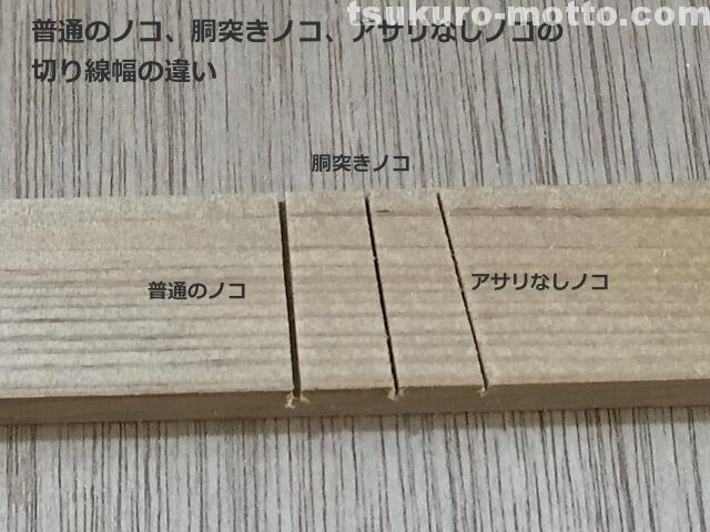 DIY ノコギリのアサリ幅