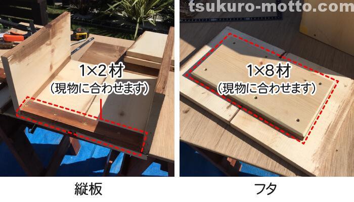 木箱DIY 現物あわせ
