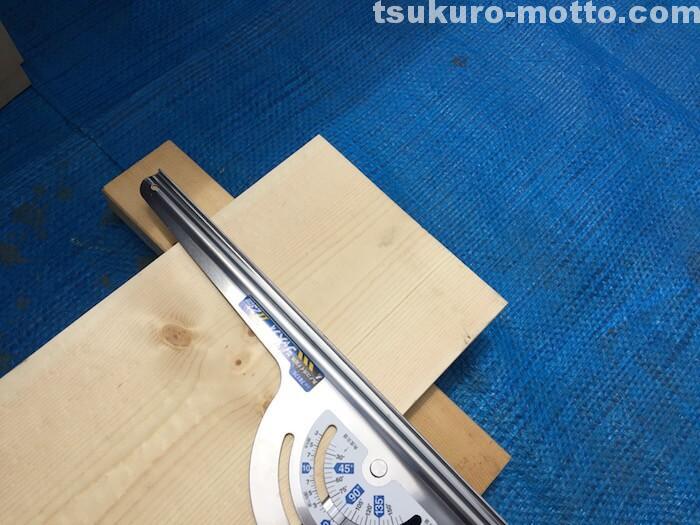 木箱DIY 部材の切り出し 丸ノコ定規