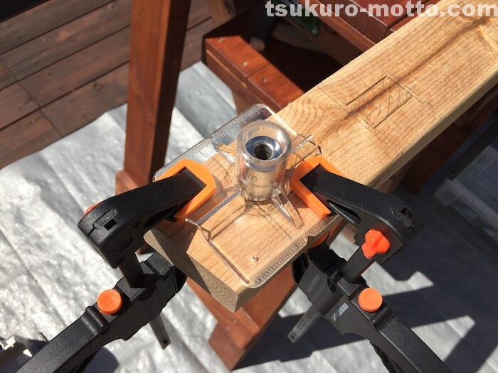 DIY ラダーシェルフ ホゾ穴加工6