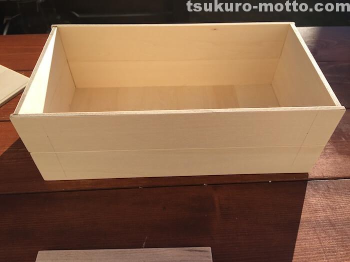 テッシュペーパーボックスDIY 木箱表現3