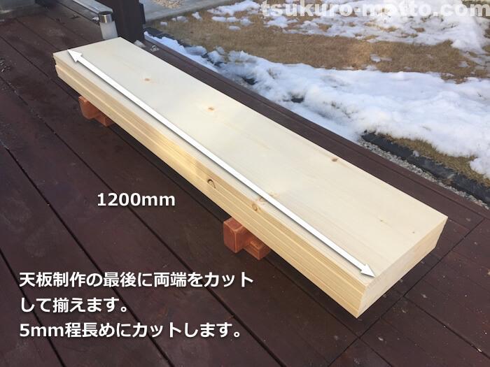ダイニングテーブルDIY 天板材料