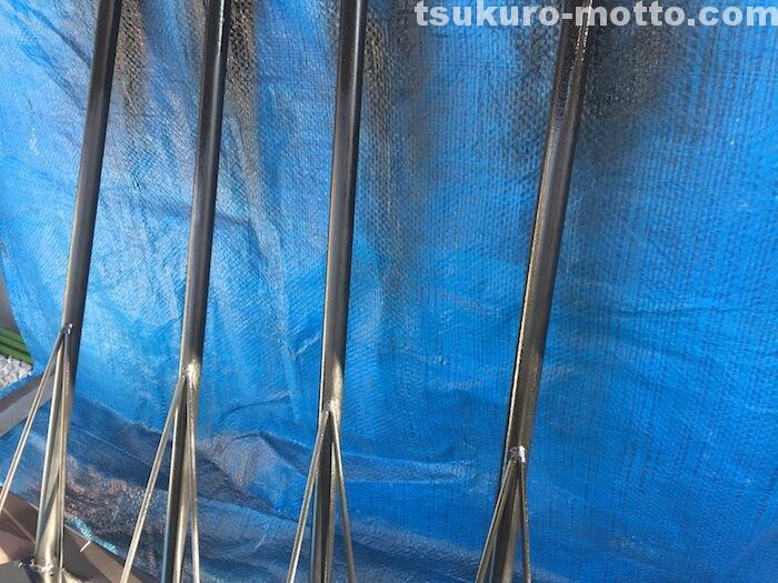 ダイニングテーブルDIY 鉄脚塗装3