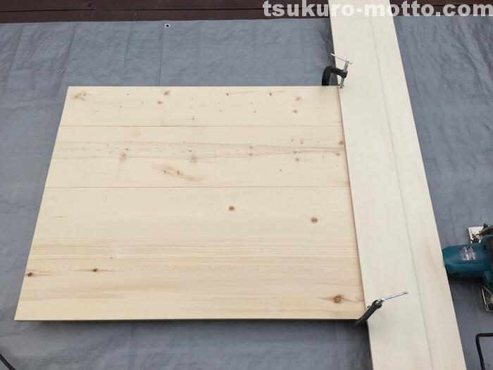 ダイニングテーブルDIY 天板仕上げ1