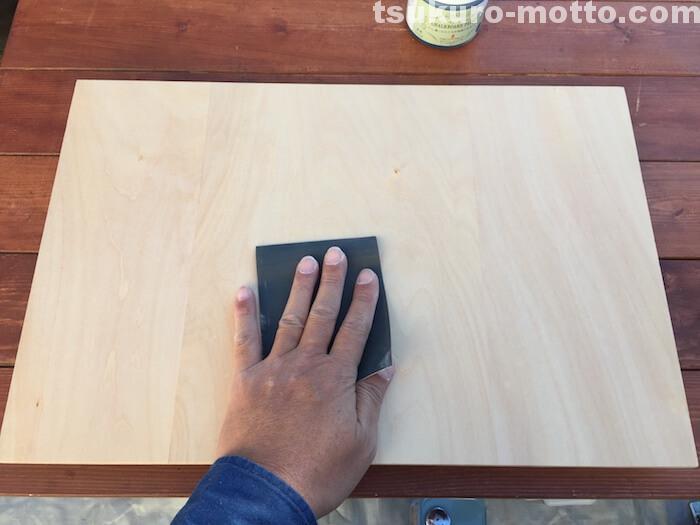 チョークボードペイント 表面処理