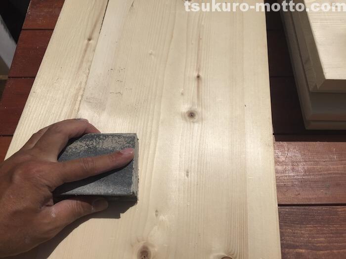 ビジネスラックリメイク 棚板製作2