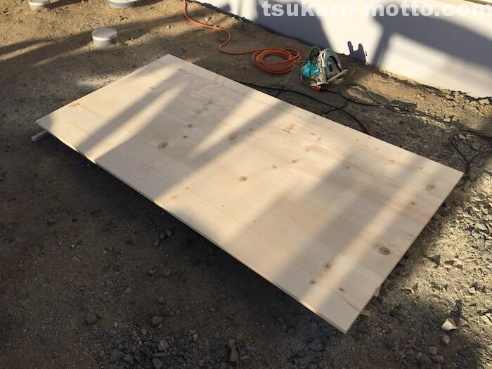 カフェ風ダイニングテーブルDIY 天板の長さカット4