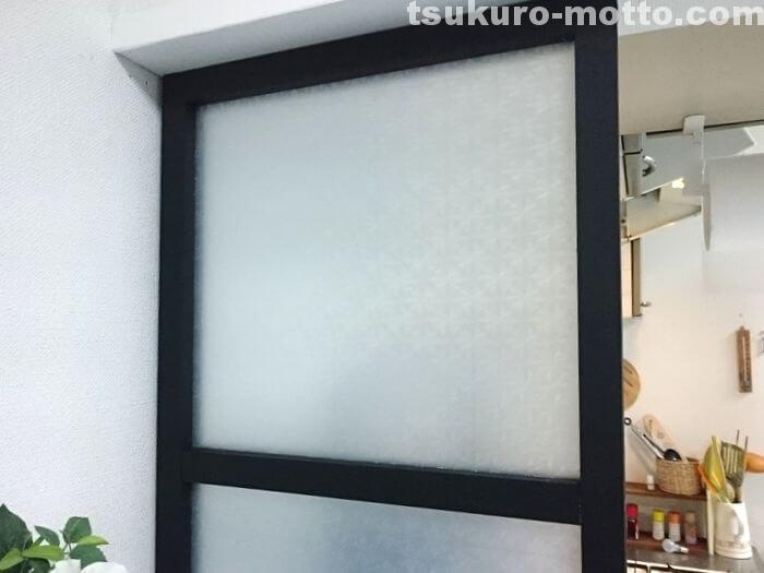 すりガラス風小窓の完成3