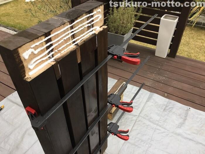 ガーデンベンチDIY 組み立て2