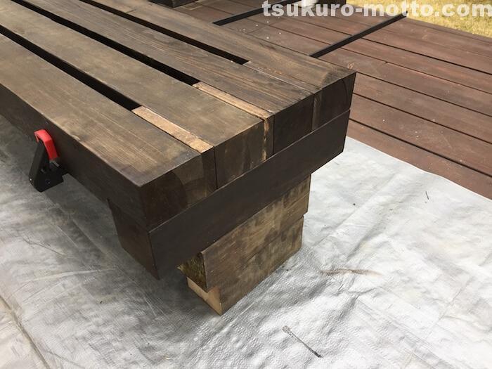 ガーデンベンチDIY 組み立て4