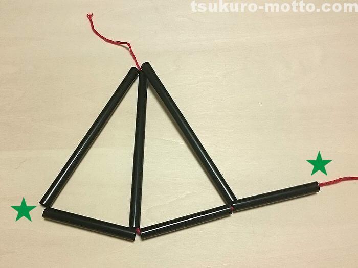 三角形のヒンメリの作り方5