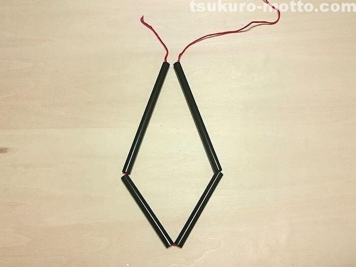 縦長ダイヤのヒンメリの作り方2