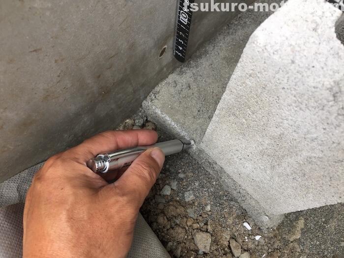 外水道リメイク ブロック 寸法確認2