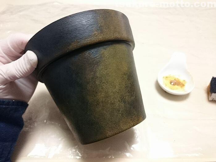 鉢の塗装4-2