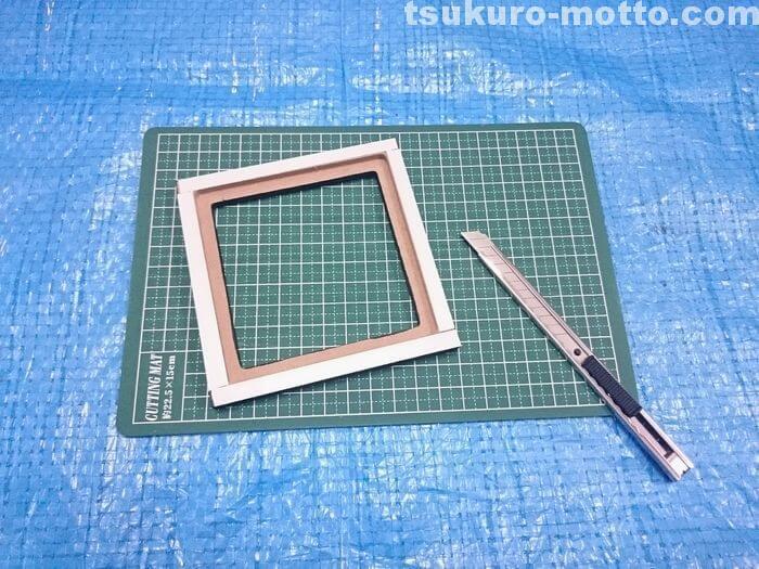 ガラスタイルの固定1