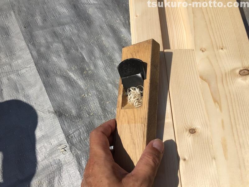 ゴミ箱DIY 端材カンナ掛け