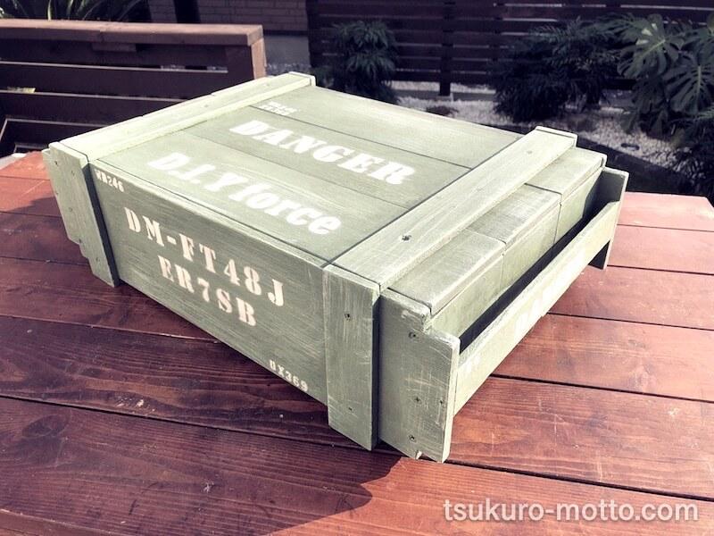 100均ミリタリー木箱 完成2
