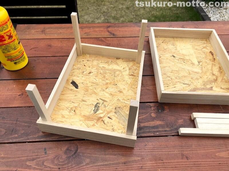 木箱柱設置2