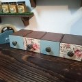 【木箱DIY】ALL100均!デコパージュでアンティーク風ドロアーボックスを作ろう♪