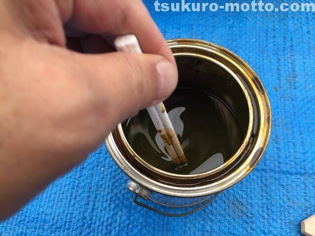 DIY ニス塗装2