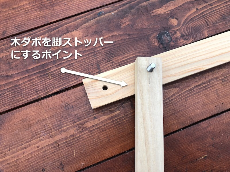 100均木材 キャンピングテーブル フレーム部材製作5