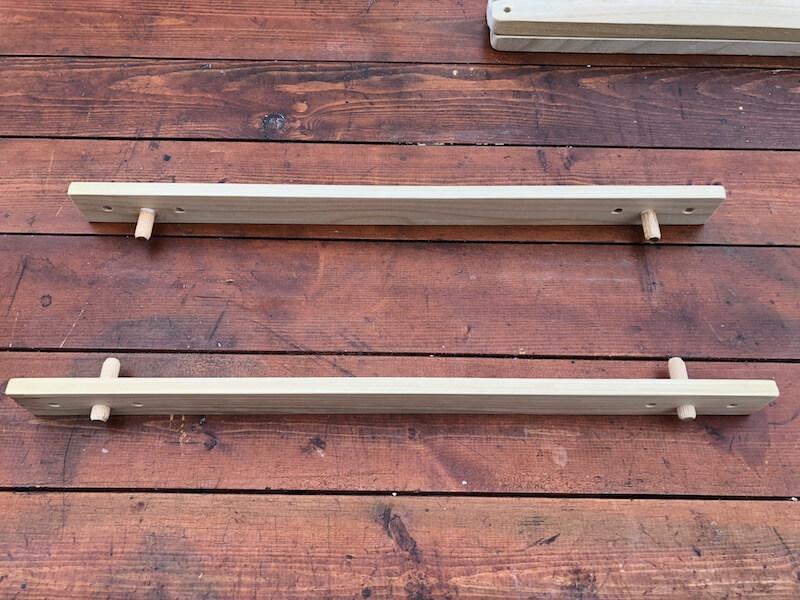 100均木材 キャンピングテーブル フレーム部材製作9