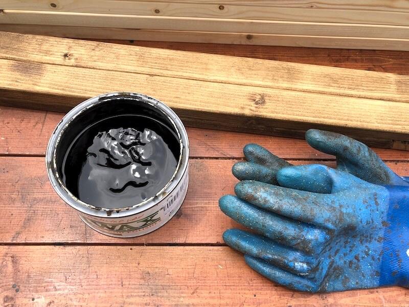ディスプレイウォールDIY ブライワックス塗装1