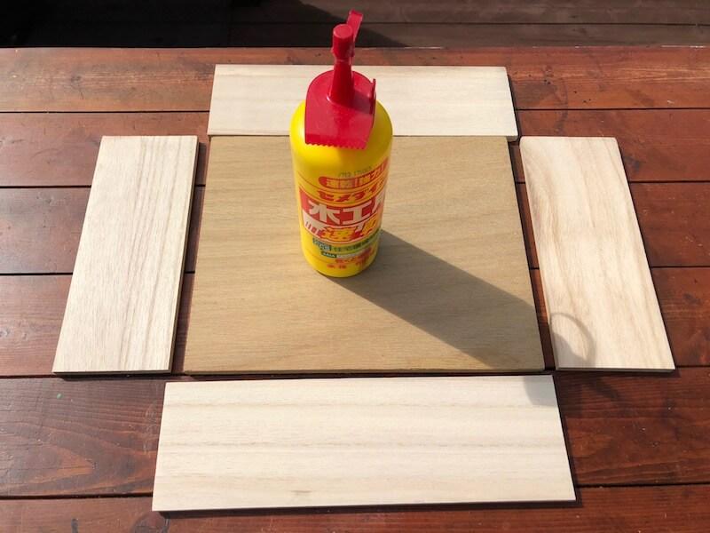 フラワーボックス木箱DIY 組立1