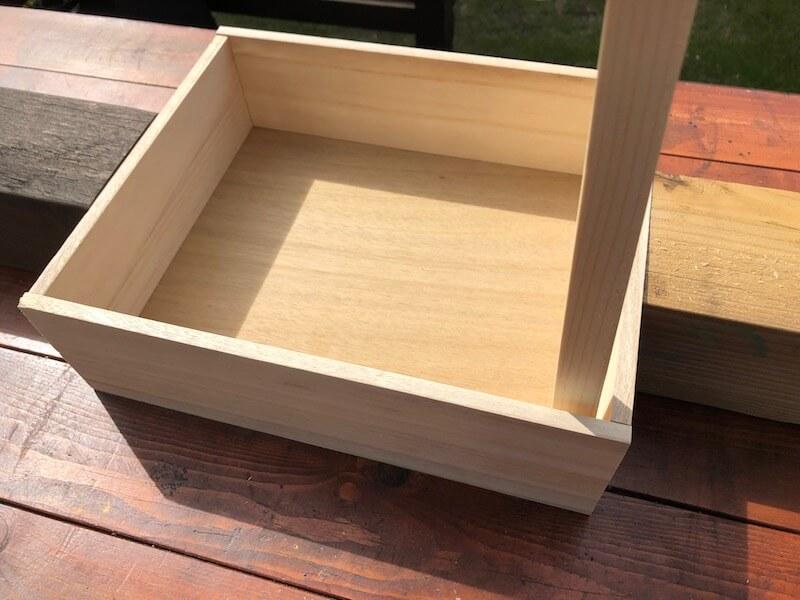 フラワーボックス木箱DIY 木箱補強1