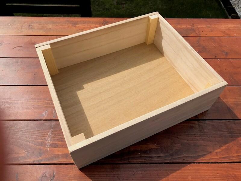 フラワーボックス木箱DIY 補強完了