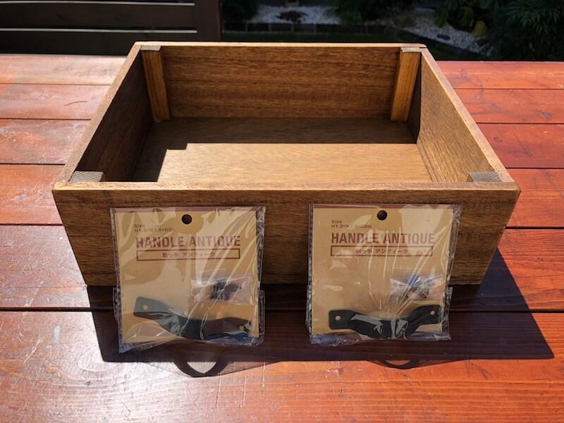 フラワーボックス木箱DIY 100均活用1