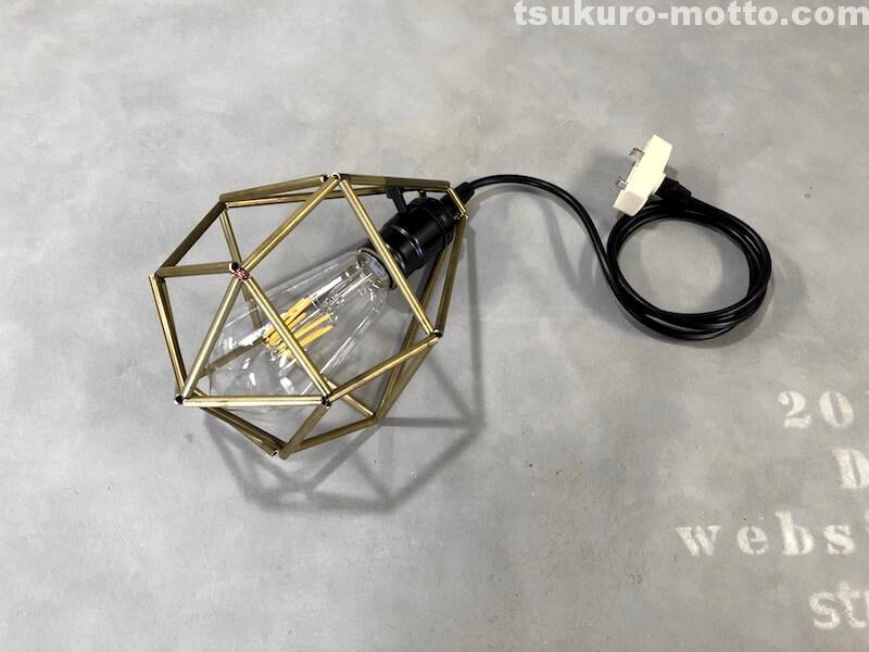 ヒンメリLED照明DIY 完成1
