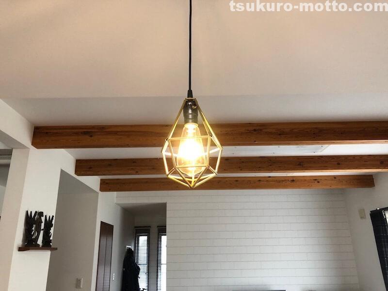 ヒンメリLED照明DIY 完成3