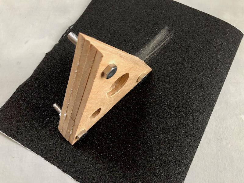 LEDビンテージスタンドライト 本体ベース製作15