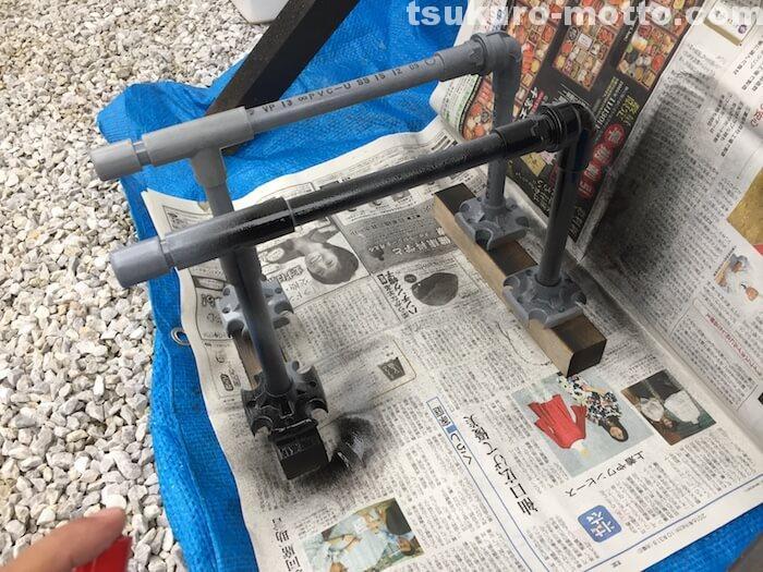 シェビーDIY 塩ビパイプ 基本塗装2