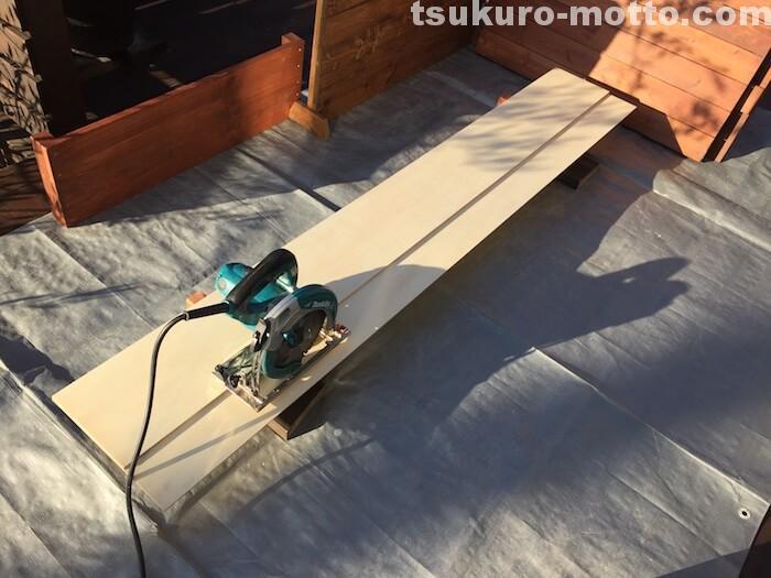 ダイニングテーブルDIY R処理2