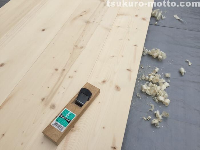 ダイニングテーブルDIY 板仕上げ2