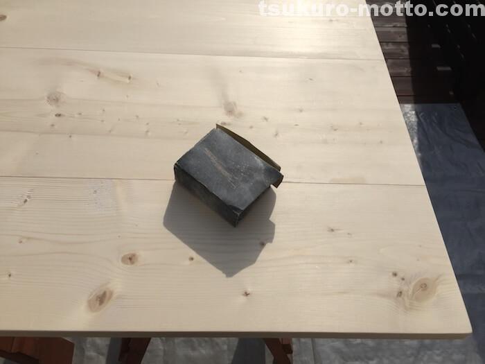 ダイニングテーブルDIY 天板仕上げ3