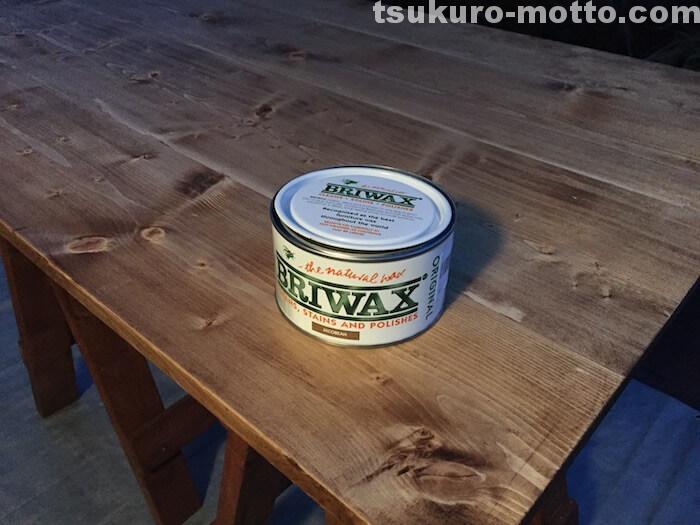 ダイニングテーブルDIY 天板塗装3
