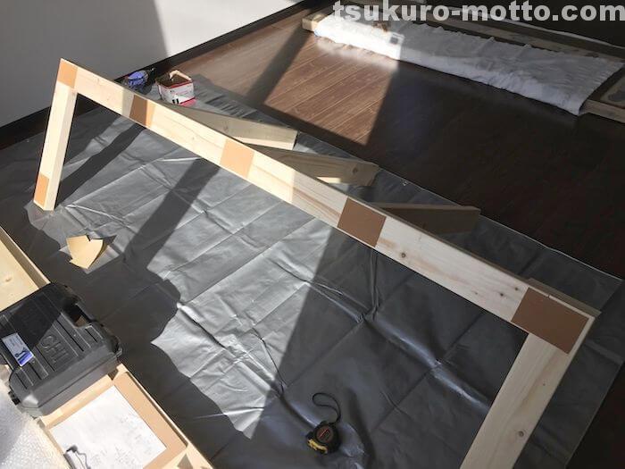 カフェ風カウンターDIY 骨組製作7