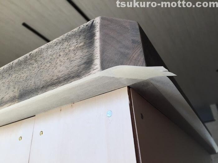 カフェ風カウンターDIY カウンター側面の塗装2