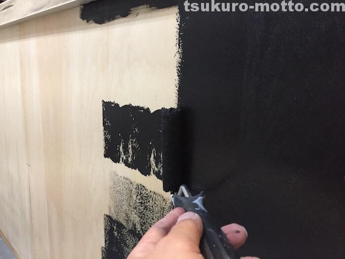 カフェ風カウンターDIY カウンター側面の塗装6