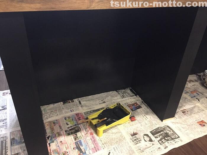カフェ風カウンターDIY カウンター裏側の塗装4
