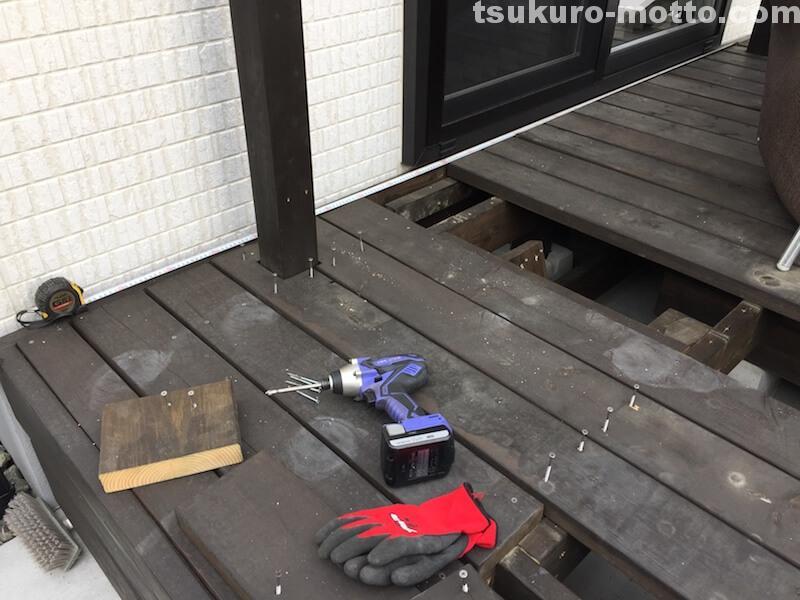 オーニングDIY 門製作4