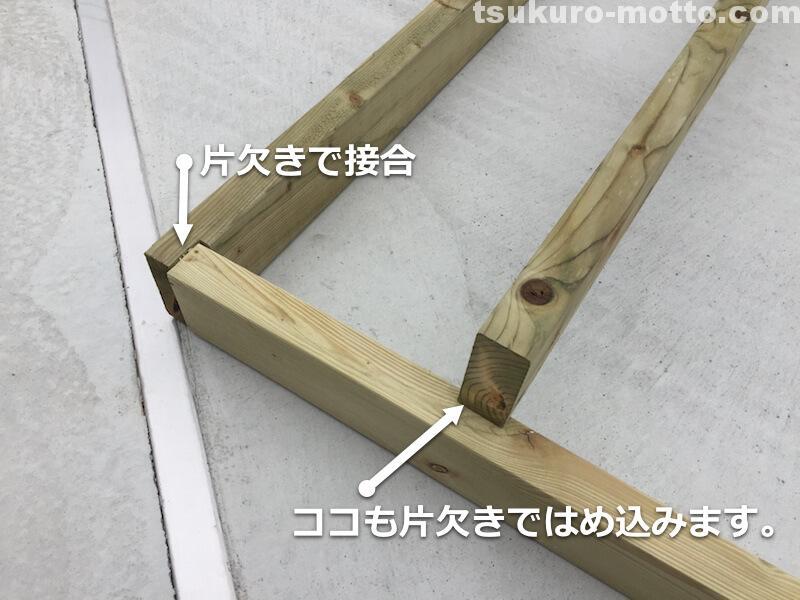 オーニングDIY 門製作9
