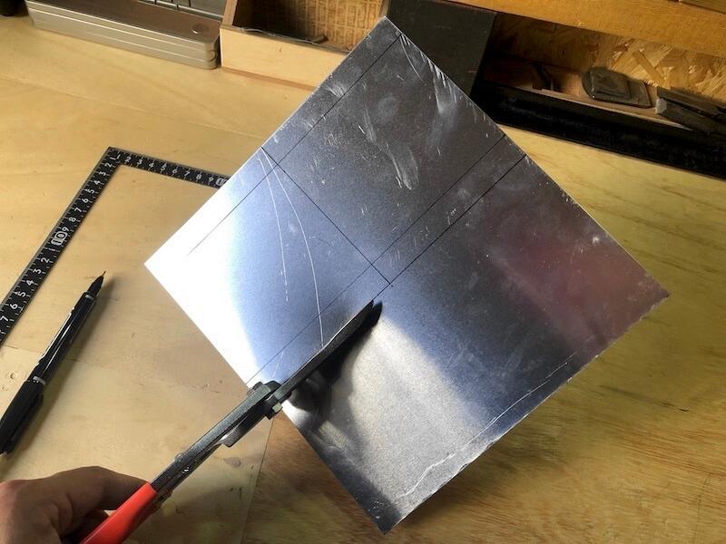ステンレス板を曲げる1