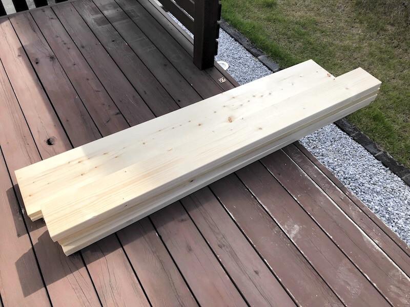 可動棚DIY 棚柱と棚受け2