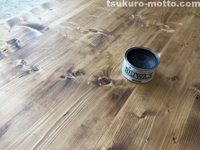 カフェ風ダイニングテーブルDIY 塗装1