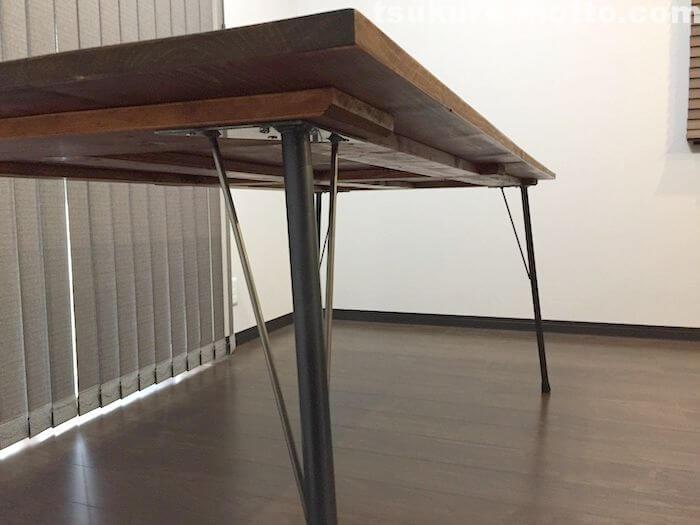 カフェ風ダイニングテーブルDIY 完成ショット3